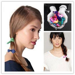 Wholesale Hair Elastic Bracelet - Women Elastic Bracelets Knot Rubber Band Hair Tie Hairband Ponytail Holder Ponytail Bracelets free shipping DHL 60083