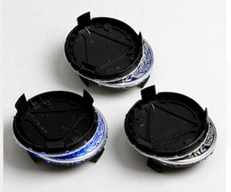 Canada Hot 75mm bleu foncé bleu clair / noir enjoliveurs de moyeu central de roue jante couvre style de voiture Offre