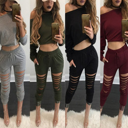 Wholesale Female Racing Suits - 2018 Brand Women track suits Long sleeve Tracksuits Women Sport Suit Hoodie Sweatshirt+Pant Jogging Female Marque Sportswear 2pc Set