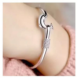 Wholesale American Indian Jewelry Bracelet - S999 Silver Jewelry Sterling Silver Bracelet female Dolphin Bracelet Jewelry Wholesale Valentine star with money to send his girlfriend