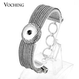 Wholesale Multi Strand Clasps - VOCHENG NOOSA Multi Strand Bracelet Ginger Snap Jewelry Interchangeable Jewelry 18mm Button NN-384