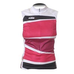 Wholesale Summer Sportswear Women - 2017 KTM Cycling Jersey MTB Bike Sleeveless Clothes summer woman Cycling Clothing racing bicycle Sportswear ropa ciclismo F2102