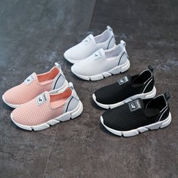 Wholesale Boys Casual Wear - The New Boys and girls casual shoes breathable cloth rubber wear-resistant children's running shoes basketball shoes