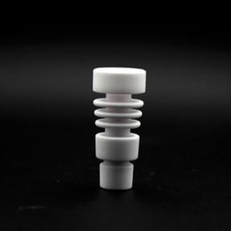 Wholesale Purpose Dual - Male 14mm & 18mm domeless Ceramic Nails Ceramic carb cap Dual purpose VS titanium nail Quartz Nail for glass water pipes