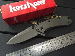 Wholesale Wholesale Folding Frames - Kershaw Cryo II A O Folding blade Knife 1556TI 8Cr13Mov stainless steel plain Flipper frame lo Tactical knife pocket knife knives