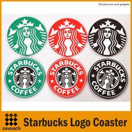 Украшение стола Starbucks логотип Русалка силиконовые каботажное судно круглый platemat чашка кофе кружка коврик Коврик черный красный зеленый Бесплатная доставка от
