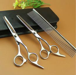 Wholesale Rake Teeth - Spot Grooming Kit \ Cats scissors pet comb \ cropped hair thinning shears (direct shear + teeth cut + row comb)