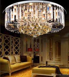 Wholesale Ceiling Designs Bedroom - Crystal chandeliers modern simple design high end K9 round chandelier led ceiling chandeliers lighting living room bedroom lighting fixture