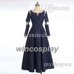 Wholesale Brave Dress - Wholesale-Free shipping! Anime Princess Brave Merida Cosplay Halloween Costume Dress Gown