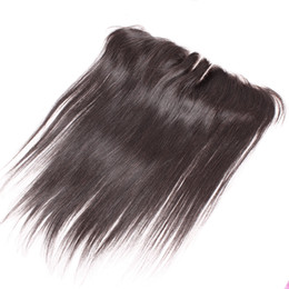 2019 front de dentelle 13x2 13x2 postiches en dentelle extensions de cheveux brésiliens 8-20 pouces oreille à oreille en dentelle frontale 3 voies partie fermeture de la soie droite 100% humain hai front de dentelle 13x2 pas cher