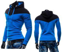 Wholesale Assassins Creed Belt - Wholesale-Hoodies Sweatshirts Moleton masculino new hoodies men sweatshirt belt patchwork full sleeve assassins creed hoodies tracksuits
