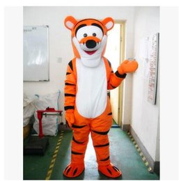 Wholesale Costumes Winnie Pooh - Low prices Lovely Tigger and Winnie the pooh Mascot Costume Adult Size Cartoon Mascot Animal Apparel