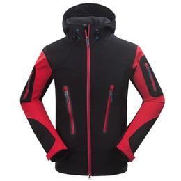 Wholesale Mens Ski Jacket Waterproof - Wholesale-2015 Windstopper Outdoor Softshell Waterproof Jacket Mens Hiking Climbing Mountain Ski Thermal Fleece Sport Jackets