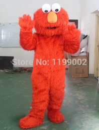 Wholesale Japanese Costumes Adult - Wholesale-Fast Free Shipping Sesame Street Blue Cookie Monster mascot costume Cheap Elmo Mascot Adult Character Costume Fancy Dress