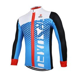 Wholesale Cheap Long Sleeve Cycling Jerseys - 2015 cheap ARSUXEO Men Cycling Jersey Bike Bicycle Long Sleeves Mountaion Clothing Shirts red blue white