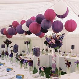 Wholesale Cheap Paper Napkins Wholesale - 20colors Paper Lanterns Wedding Decorations Wedding Lantern Festival Decoration White Paper Lanterns Cheap Paper Lanterns 4'' 8'' 12'' 16''