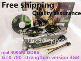 Wholesale Number Tracks - Wholesale-Free shipping gtx780 game graphics really 4G DDR5 independent pci-e computer desktop with tracking number PK 750ti 680 770 GTX
