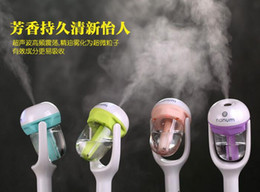 Wholesale Ion Supply - wholesale Nanum Fashion New Mini Charging Portable Water Bottle Steam Humidifier Air Mist Diffuser Purifier Car Office Room