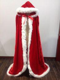 Wholesale Winter Bridal Coats Jackets - Beautiful Fall Winter Fur Bridal Coat Wraps Jackets with Hat Cheap 2018 Bridal Wraps Warm Newest Long Wedding Cloak Capes Bolero