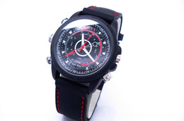 Wholesale Spy Watch Dhl - 8-32GB optional Spy Camera Watch 1280*960 Waterproof Silicone Strap Camera Watch Ship by DHL