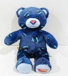 Wholesale Superman Bear Teddy - Free shipping 6pcs lot 45cm=17inch high quality bear toys,Build A Bear stuffed bear,superman design bears doll