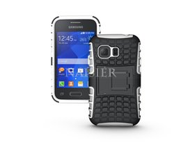 Wholesale Case Cover For Galaxy Young - New Rugged Armor Heavy Duty Hybrid Phone Case Stand Cover For Samsung Galaxy Young 2 G130