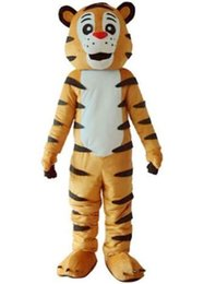Wholesale Tiger Mascot Heads - Tiger Mascot Costume Adult Fancy Dress Deluxe EVA Head Top Quality