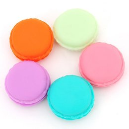 Wholesale Faux Leather Storage - 6 pcs Lot Mini teddy Macaron storage box Candy organizer for jewelry caixa organizadora zakka Gift Novelty households Z00560