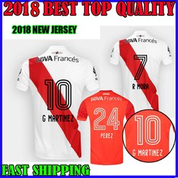 Wholesale River Free - 17 18 River Plate soccer jersey home away Gonzalo Martinez Enzo Perez 2017 2018 Ignacio Fernandez maillot de foot top quality free shipping
