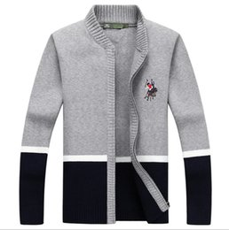Wholesale Embroidery Factories - Factory Direct Sale! 2018 Brand Fashion Sweater Men's Zipper Cardigans Long Sleeve Warm Sweaters Men Coats women sweater