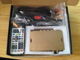 Wholesale Car Tv Receiver Mpeg4 - New 120-140km h Car DVB T2 H.264 MPEG4 Mobile Digital TV Box External USB High speed DVB-T2 Car TV Receiver Double Antenna M2512