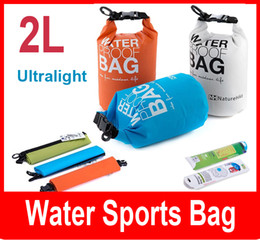 Wholesale Dry Bag Canoe Camping - Ultralight Outdoor Travel Rafting Canoe Portable Waterproof Storage Dry Bag Swimming 2L Small Blue White Orange Green