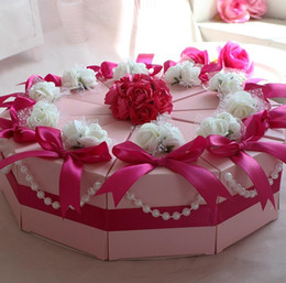 Wholesale Big Crown Cake - 100Pcs Lot Big Size Cake Candy Boxes Sweet Crowns Round Wedding Favor Holders Gift Box 2015 Best Selling