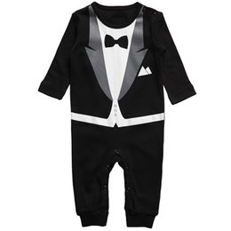 Wholesale Boys Long Sleeve Overall - New Cotton Newborn Baby Boy Girl Clothing Clothes Rompers Creeper Jumpsuit overalls Baby Romper