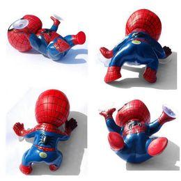 Deutschland 6 Zoll Spider Man Auto Teil Schöne Auto Zubehör Saugnapf Spider-Man-Puppe Schwarz Rot Cool Suction Doll Freies Verschiffen HK25 Versorgung