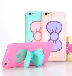 Wholesale Cute 3d Cartoon Silicon - Case Luxury 3D Cartoon Bowknot Silicon Stand Case for iphone6 6plus Phone Cases Cute Fashion Back Cover Iphone 6 Plus