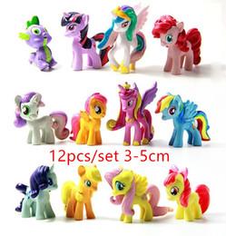 Wholesale Pvc Figures Little Pony - 12pcs set My Pony Friendship Is Magic Little Cute PVC Pony Toys Action Figures Kids Toys
