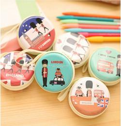 Wholesale Hop Storage - 200pcs lot* Cute Mini Zipper Earphone Box Coin Bag Headphone Carrying Pouch Storage Case For Kids Gift