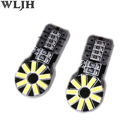 Wholesale Motorcycle Brake Lamp - WLJH Led Canbus T10 W5W 4014 SMD 4014 Chips 18 Led Lamp Bulb 12V Car Lamp Bulbs Automobiles Motorcycles Lighting Led