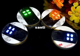 Wholesale Beauty Mats - Ultra Thin Bar Cup LED Flashing Lights Bottle Sticker Party Light Up Wine Mat for Beauty
