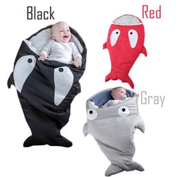 Wholesale Imitation Bag Wholesale - 2016 Newborns Shark Sleeping Bag Cute Bedding Baby Slaapzak Winter Strollers Bed Swaddle Blanket Wrap Baby Sleeping Bag