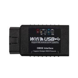 Wholesale Top Rated Obd2 Scanner Tools - 2014 Top-Rated WIFI327 WIFI USB OBD2 EOBD Scan Tool WIFI 327 OBD2 Diagnostic Code Scanner with Free Shipping