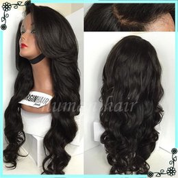 Wholesale Full Base - Natural Scalp Silk base Lace front Wig Baby Hair High Quality Brazilian Virgin Silk top glueless Full Lace Wigs body wave wig