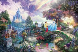 Wholesale Good Jigsaw - Wholesale-Top recommend!!! Fantasyland cartoon 3D DIY puzzles 1000 pcs woonden 3D jigsaw very good wall paintings nice gift choice