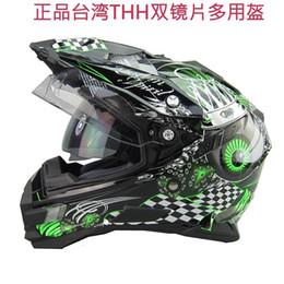 novos capacetes fora da estrada Desconto Atacado-frete grátis 2015 novo design THH off road Motocicleta capacetes de motocross casco capacetes, lente dupla, estrela do rock cruz ATV bicicleta