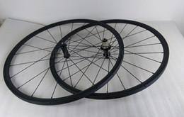 Wholesale Aero Wheels Bicycle - Tubular 24mm carbon road bike wheelset 23mm wide 20 24h front and rear bicycle wheels basalt brake track pillar aero spokes powerway hub