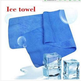 Wholesale Pc Exercise - Newest Creative Cold Towel Exercise Sweat Summer Ice Towel 80*34cm Sports Ice Cool Towel PVA Hypothermia Cooling Towe 100 pcs