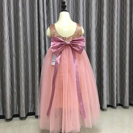 Wholesale Holiday Princess Dresses - Everweekend Princess Girls Tutu Tulle Sequins Bow Dress Ruffles Candy Color Cute Children Fashion Summer Holiday Birthday Dress