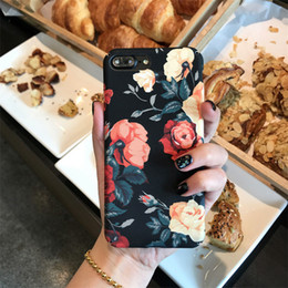 Wholesale Mobile Phone Cases Wholesale China - ip case iPx 7 8plus frosted hard shell protective sleeve Korean China retro temperament rose ip 6S mobile phone shell phone cases