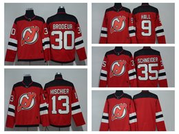 855bcab03 2018 AD Hockey Jersey Devils 30 Martin Brodeur Jersey 9 Taylor Hall 35 Cory  Schneider 13 Nico Hischier 6 Andy Greene 14 Adam Henrique Sales